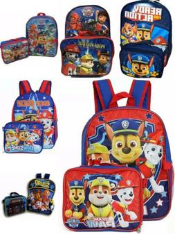 "Nickelodeon Boy Paw Patrol 16"" Backpack With Detachable Lunc"