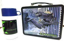 Thermos Brand Godzilla Metal Lunch Box with Roughneck Bottle