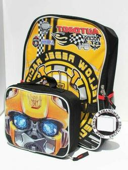 Transformers Bumblebee Boys School Backpack Lunch Box  Combo