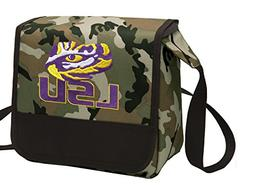 Camo LSU Tigers Lunch Bag Shoulder LSU Lunch Boxes