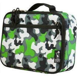 Camouflage Lunch Box w Zippered Front Pocket
