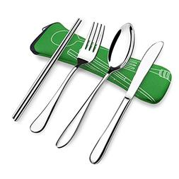 Camping Utensils Fork,Spoon,Knife,Chopsticks,Portable Outdoo