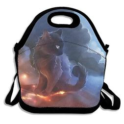 Cat Warrior Lunch Bag Lunch Tote