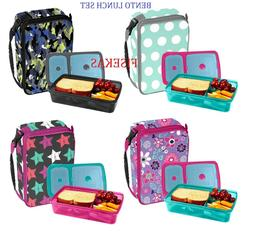 Classic Bento Expandable Insulated Lunch Bag & Container w/