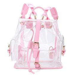 Outsta Women's Clear Travel Bag, Plastic See Through Securit
