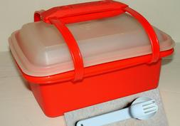 Complete Tupperware Pak-N-Carry Lunch Box Set #1254 and snap