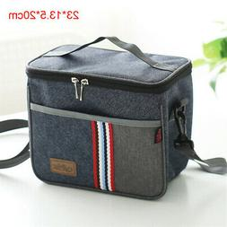 cooler insulated canvas picnic lunch bag box