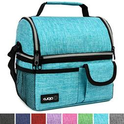 OPUX Deluxe Thermal Insulated Dual Compartment Lunch Bag for
