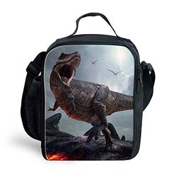 Amzbeauty Dinosaur Lunch Bag for Kids Reusable Square Therma