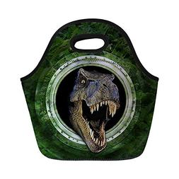 FOR U DESIGNS Dinosaur Print Neoprene Lunch Bag for Kids Adu
