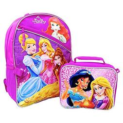 "Disney Princess 16"" Backpack with Lunch Insulated Lunchbox K"