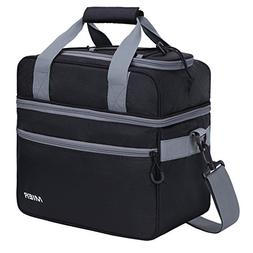 double compartment cooler bag insulated