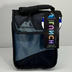 ARCTIC ZONE Dual Closure Insulated Lunch Bag/Sack - Grey/Bla