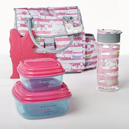 Fit & Fresh Eliza Lunch Kit for Kids with Container Set, Mat