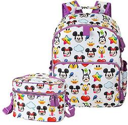 World of Disney Emoji Backpack and Insulated Lunch Tote Bund