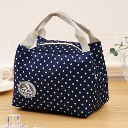 Fashion Simpl etriped Dot Portable <font><b>Lunch</b></font>