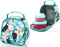Fit & Fresh Aubrey Lunch Kit - Toucan Tropics Lunchbox Lunch