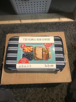 Fit & Fresh Bento Lunch Set Lunchbox and Bento Container New