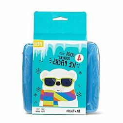 Fit & Fresh Cool Coolers Slim Reusable Ice Packs for Lunch B