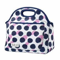 Fit & Fresh Rosewood Zippered Lunch Tote Bag - Polka Dot Pat