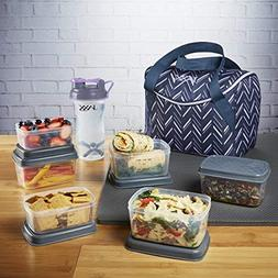 Fit & Fresh Jaxx FitPak Meal Prep Mini-Tote Bag and Containe