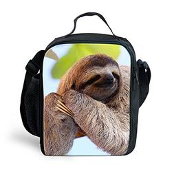 Amzbeauty Flash Sloth Lunch Bag for Kids insulated freezable