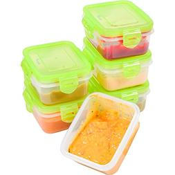 Elacra Baby Food Storage BPA Free Airtight Containers Set, F