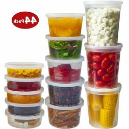 DuraHome Food Storage Containers with Lids 8oz, 16oz, 32oz F