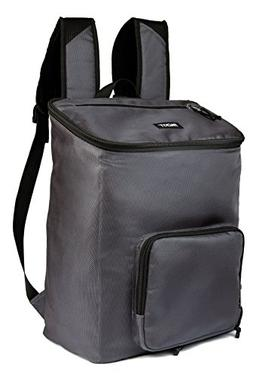 PackIt Freezable Backpack Cooler, Charcoal Grey