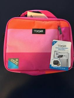 Packit Freezable Classic Lunch Box In Pink Beach Stripe