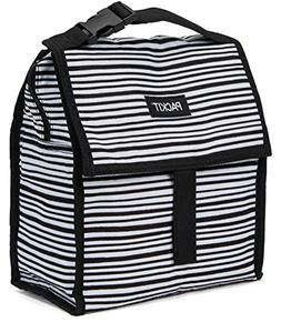 PackIt Freezable Lunch Bag with Zip Closure, Wobbly Stripes