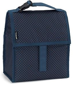 PackIt Freezable Lunch Bag with Zip Closure, Micro Dot