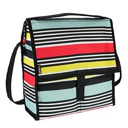 PackIt Freezable Picnic Bag with Zip Closure, Surf Stripe