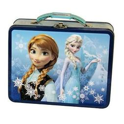 Disney Frozen Anna n Elsa Storage Carry All Tin Lunch Boxes