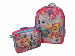 "Paw Patrol Girls Skye and Everest 16"" Backpack With Detachab"