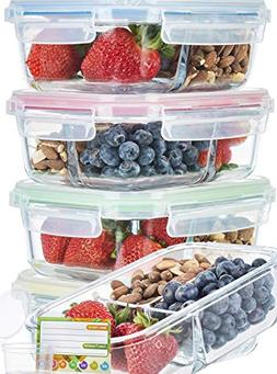 Glass Meal Prep Containers 3 Compartment SUPER BUNDLE  Meal