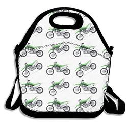 Most Fashion Maker Green Dirt Bike Colorful Patterned Lunch