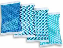 Ice Pack for Lunch Boxes - 4 Reusable Packs - Keeps Food Col