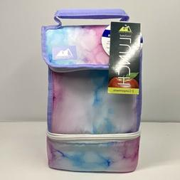 ARCTIC ZONE Insulated 2 Compartment Lunch Bag - Pink/Blue Ma