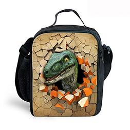 Insulated Lunch Boxes For Kids Dinosaur Print School Cooler