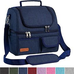 Insulated Lunch Bag Dual Compartment, Leakproof 22 Can X Lar