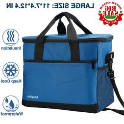 Insulated Lunch Bag for Men and Women,24 Can Large Lunch Bag