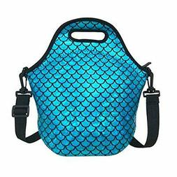 Insulated Lunch Bag, Neoprene Shoulder Lunch Tote Boxes Bags