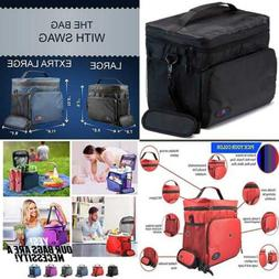 Insulated Lunch Box For Men Cooler Bag Boxes Adults LARGE Ny