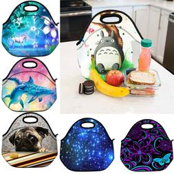 Insulated Lunch Box Picnic Tote School Work Cooler Bag for W