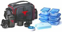ThinkFit Insulated Lunch Boxes  With 6 Portion Control Conta