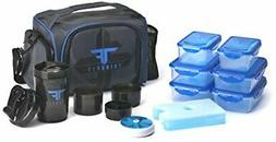 ThinkFit Insulated Lunch Boxes with 6 Portion Control Contai