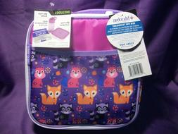 ARCTIC ZONE INSULATED LUNCH SCHOOL BAG W/ BOTTLE, ICE PACK &