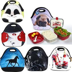 Insulated Thermal Tote Lunch Box Bag Picnic Zipper Carry Bag