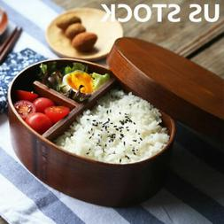 Japan Style Lunch Box Business School Bento Wood Food Contai